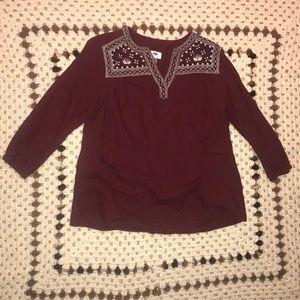 Maroon old navy blouse